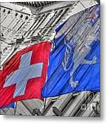 Swiss Flags  Metal Print
