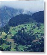 Swiss Mountain Village Metal Print