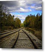 Switching Tracks Leaving Leafing Metal Print
