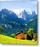 Switzerland Oil On Canvas Metal Print