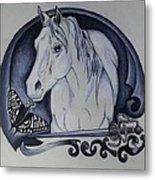 Sword And Horse Metal Print