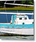 Swordfish Boat Pano Metal Print