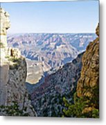 Swtichback Trails On The Steep Walls Of The Grand Canyon Metal Print
