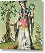 Sybil Of Delphi, No. 15 From Antique Metal Print
