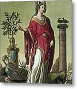 Sybil Of Eritrea With Her Insignia, 1796 Metal Print