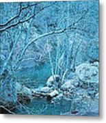 Sycamores And River Metal Print