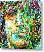 Syd Barrett - Watercolor Portrait Metal Print
