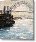 Sydney Ferry Wharves 1950's Metal Print