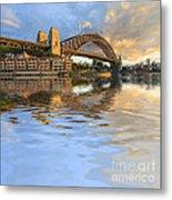 Sydney Harbour Bridge Australia Spectacular Early Morning Light Metal Print