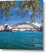 Sydney Harbour Skyline 2 Metal Print