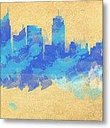 Sydney In Blue Metal Print