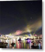 Sydney Navy Fleet Fireworks Metal Print