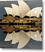Sydney Opera House With Clouds Metal Print