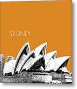 Sydney Skyline 3  Opera House - Dark Orange Metal Print