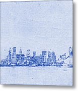 Sydney Skyline Blueprint Metal Print by Kaleidoscopik Photography
