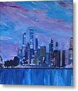 Sydney Skyline With Opera House At Dusk Metal Print