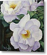 Sydneys Rose Oil Painting Metal Print