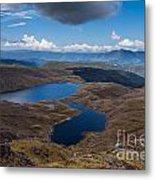 Sylvester Lakes In Kahurangi National Park Nz Metal Print