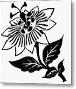 Symbol Passion Flower Metal Print
