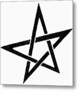 Symbol Pentacle Metal Print