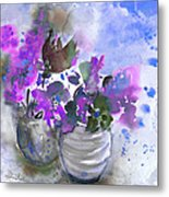 Symphony In Blue And Purple Metal Print