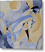 Syncopation In Blue Metal Print