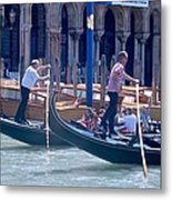 Syncronized Gondoliers Metal Print