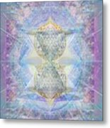 Synthecentered Doublestar Chalice In Blueaurayed Multivortexes On Tapestry Lg Metal Print