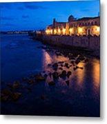 Syracuse Sicily Blue Hour - Ortygia Evening Mood Metal Print