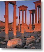 Syria, The Great Tetra Pylon At Palmyra Metal Print