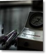 Syringe And Gauge   Metal Print