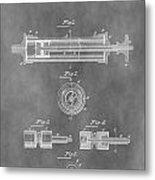 Syringe Patent Design Metal Print