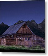T. A. Moulton Homestead Barn At Night Metal Print