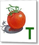 T Art Alphabet For Kids Room Metal Print by Irina Sztukowski
