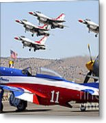 Miss America And The T-birds Metal Print