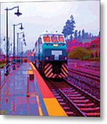 T Is For Train Metal Print