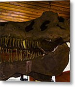 T Rex Head Metal Print