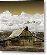 T.a. Moulton Barn In The Grand Tetons Metal Print