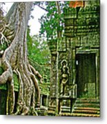 Ta Prohm And Tree Invasion In Angkor Wat Archeologial Park Near Siem Reap-cambodia Metal Print