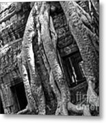 Ta Prohm Roots And Stone 03 Metal Print
