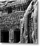 Ta Prohm Roots And Stone 05 Metal Print