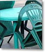 Table And Chairs. Metal Print