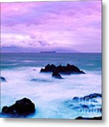 Table Mountain Cloudy Sunset Metal Print