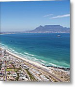 Table Mountain Lies In The Distance Of Metal Print