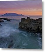 Table Mountain Sunset Metal Print by Aaron Bedell