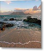 Table Mountain Wave Fan Metal Print