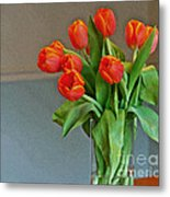 Table Top Tulips Metal Print
