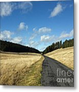 Tableland With Road Metal Print