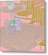 Tables And Chairs Metal Print