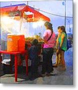 Taco Stand San Felipe Metal Print